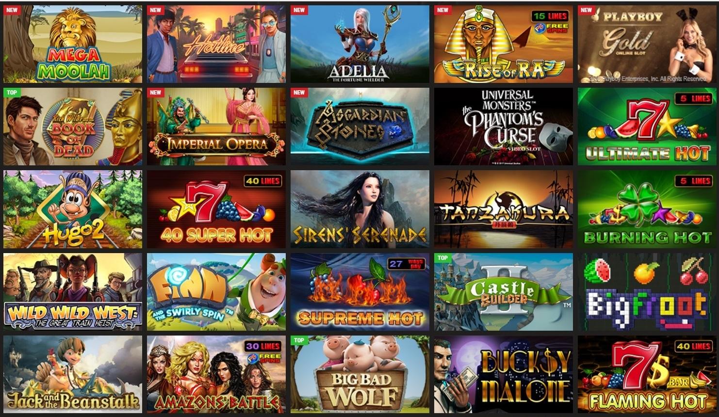 Games in Parimatch Casino.
