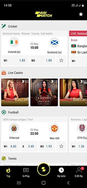 parimatch installed app